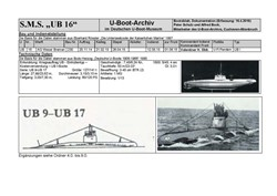 Picture of SM UB16 (Boatsheet)