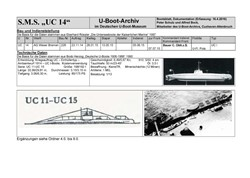 Picture of SM UC14 (Boatsheet)